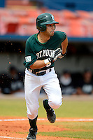 Dartmouth Big Green outfielder Ennis Coble (5) during a game against the Long Island Blackbirds at Chain of Lakes Stadium on March 17, 2013 in Winter Haven, Florida.  Dartmouth defeated UAB 11-4.  (Mike Janes/Four Seam Images)
