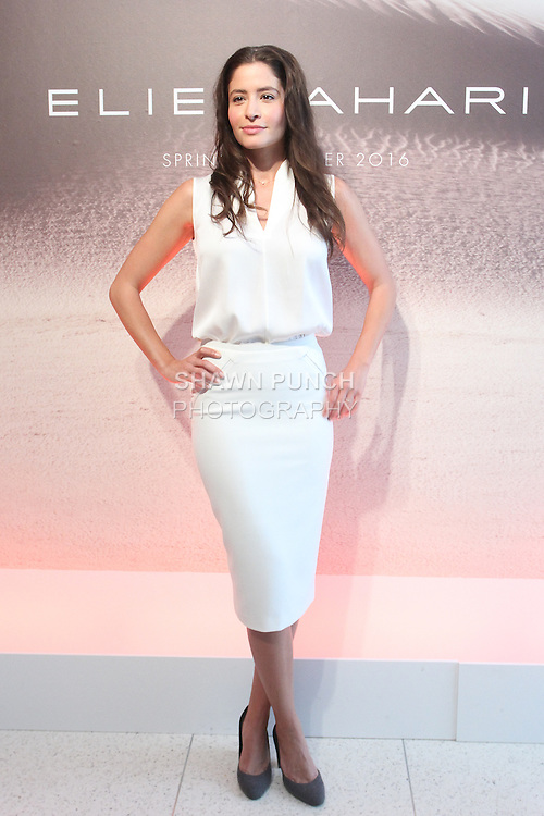 "Mercedes Mason attends the Elie Tahari Spring 2016 ""Future-Nature"" collection, during New York Fashion Week Spring 2016."