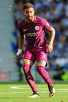 Kyle Walker of Manchester City (2) In action  during the EPL - Premier League match between Brighton and Hove Albion and Manchester City at the American Express Community Stadium, Brighton and Hove, England on 12 August 2017. Photo by Edward Thomas / PRiME Media Images.