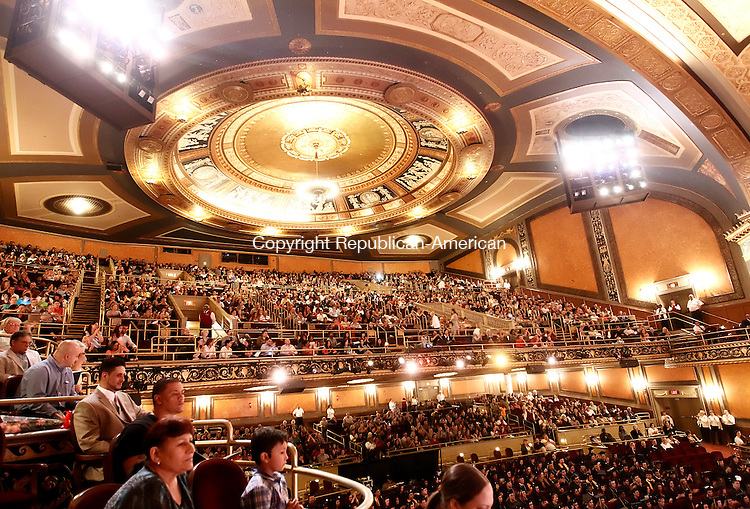 Waterbury, CT- 29 May 2014-052914CM07-  Naugatuck Valley Community college graduates and audience members listen in to commencement exercises at The Palace Theater in Waterbury on Thursday.   Christopher Massa Republican-American