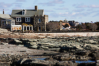 Large homes stand in the Ocean Drive Historic District in Newport, Rhode Island, on Sat., Dec. 3, 2016.