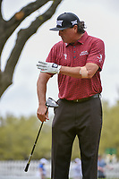 Pat Perez (USA) has some fun on the 12th tee as he waits to tee off during day 3 of the World Golf Championships, Dell Match Play, Austin Country Club, Austin, Texas. 3/23/2018.<br /> Picture: Golffile | Ken Murray<br /> <br /> <br /> All photo usage must carry mandatory copyright credit (&copy; Golffile | Ken Murray)