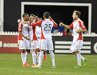 Toronto FC. Bobby Convey (15) celebrates his score with team mates in the 60th minute of the game. Toronto FC tied D.C. United 1-1, at RFK Stadium, Saturday August 24 , 2013.