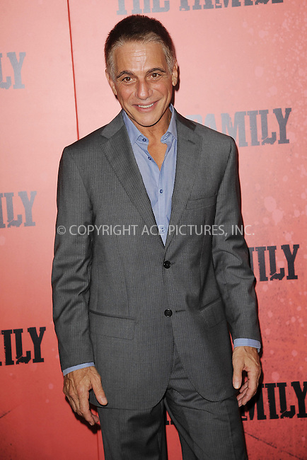 WWW.ACEPIXS.COM<br /> September 10, 2013 New York City<br /> <br /> Tony Danza attending the World Premiere of &quot;The Family&quot; in New York City on September 10, 2013. <br /> By Line: Kristin Callahan/ACE Pictures<br /> <br /> ACE Pictures, Inc.<br /> tel: 646 769 0430<br /> Email: info@acepixs.com<br /> www.acepixs.com<br /> Copyright:<br /> Kristin Callahan/ACE Pictures