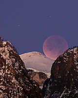 Moon Eclipse over Death Canyon in Grand Teton National Park