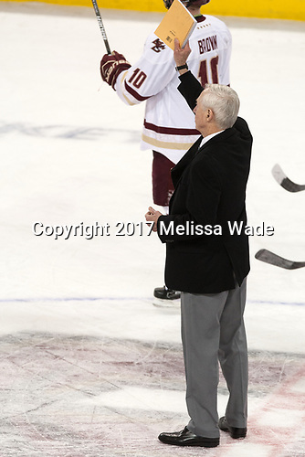 Jerry York (BC - Head Coach) - The Boston College Eagles defeated the visiting UConn Huskies 2-1 on Tuesday, January 24, 2017, at Kelley Rink in Conte Forum in Chestnut Hill, Massachusetts.