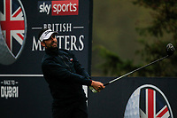 Lee Slattery (ENG) on the 3rd tee during Round 4 of the Sky Sports British Masters at Walton Heath Golf Club in Tadworth, Surrey, England on Sunday 14th Oct 2018.<br /> Picture:  Thos Caffrey | Golffile<br /> <br /> All photo usage must carry mandatory copyright credit (&copy; Golffile | Thos Caffrey)