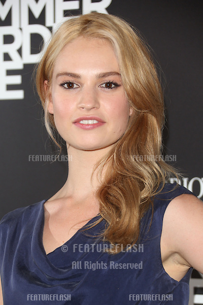 Lily James at the Emporio Armani Summer Garden Live 2013, London. 16/07/2013 Picture by: Henry Harris / Featureflash
