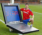 Matt McKay promoting the Rangers TV online stuff