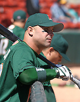 April 21, 2005:  Andy Abad of the Buffalo Bisons during a game at Dunn Tire Park in Buffalo, NY.  Buffalo is the International League Triple-A affiliate of the Cleveland Indians.  Photo by:  Mike Janes/Four Seam Images
