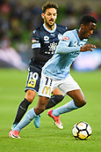 3rd November 2017, Melbourne Rectangular Stadium, Melbourne, Australia; A-League football, Melbourne City FC versus Sydney FC; Bruce Kamau of Melbourne City FC runs with the ball