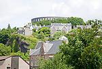 Historic buildings on hillside, Oban, Argyll and Bute, Scotland, UK
