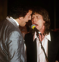Bruce Springsteen Mick Jagger 1984<br /> Photo By John Barrett/PHOTOlink.