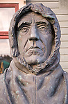Roald Amundsen, 1872-1928, bust statue sculpture of famous explorer at the Polar Museum, Tromso, Norway