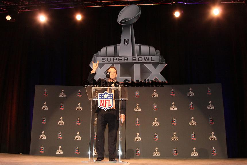 NFL Pressesprecher Brian McCarthy - Draft Pressekonferenz, Sheraton Downtown Phoenix Hotel
