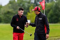 Matt Mclean with Reid Hilton of Canterbury Toro New Zealand Mens Interprovincial Tournament, Clearwater Golf Club, Christchurch, New Zealand, 26th November 2018. Photo:John Davidson/www.bwmedia.co.nz