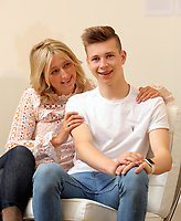 Pictured: Helen Humphreys with son Llew in Carmarthen, Wales, UK<br />