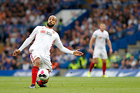 David McGoldrick of Sheffield United during the Premier League match between Chelsea and Sheff United at Stamford Bridge, London, England on 31 August 2019. Photo by Carlton Myrie / PRiME Media Images.