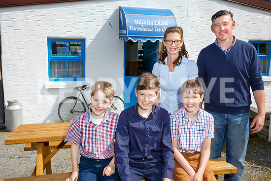 The Daly Family from Valentia Island Caroline & Joe with their sons front l-r; Evan, Mathew & Philip.