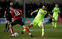 Bolton Wanderers' Luke Murphy competing with Lincoln City's Jorge Grant (left) <br /> <br /> Photographer Andrew Kearns/CameraSport<br /> <br /> The EFL Sky Bet League One - Lincoln City v Bolton Wanderers - Tuesday 14th January 2020  - LNER Stadium - Lincoln<br /> <br /> World Copyright © 2020 CameraSport. All rights reserved. 43 Linden Ave. Countesthorpe. Leicester. England. LE8 5PG - Tel: +44 (0) 116 277 4147 - admin@camerasport.com - www.camerasport.com