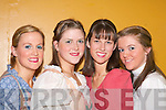 STAGE: Maura O'Connor, Susan Nagle, Genevieve O'Sullivan and Ann Ivory preparing to go on stage for their performance in the Roger and Hammersteins musical 'Carousel' in the INEC Killarney on Tuesday evening.   Copyright Kerry's Eye 2008