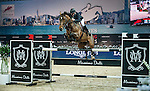 Roger-Yves Bost of France riding Nikyta d'Elle in action at the Massimo Dutti Trophy during the Longines Hong Kong Masters 2015 at the AsiaWorld Expo on 15 February 2015 in Hong Kong, China. Photo by Juan Flor / Power Sport Images