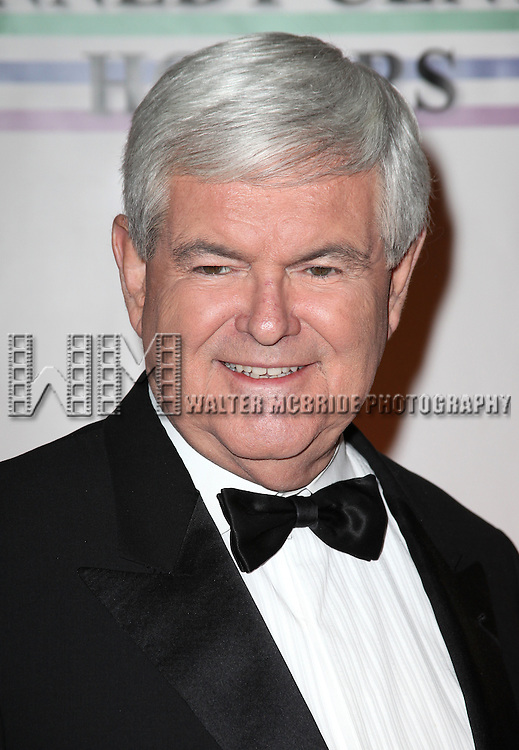 Newt Gingrich.arriving for the 34th Kennedy Center Honors Presentation at Kennedy Center in Washington, D.C. on December 4, 2011