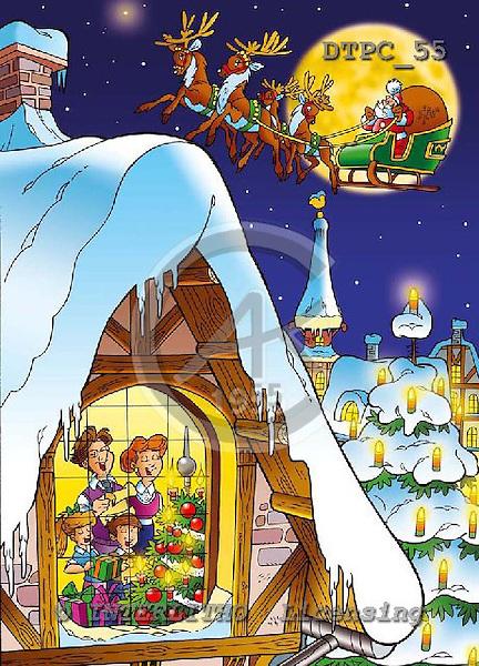 Eberle, Comics, CHRISTMAS SANTA, SNOWMAN, paintings, DTPC55,#X# Weihnachten, Navidad, illustrations, pinturas