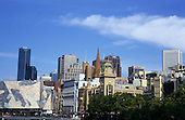 Melbourne, Australia. Melbourne skyline with Rialto Towers prominent on left.
