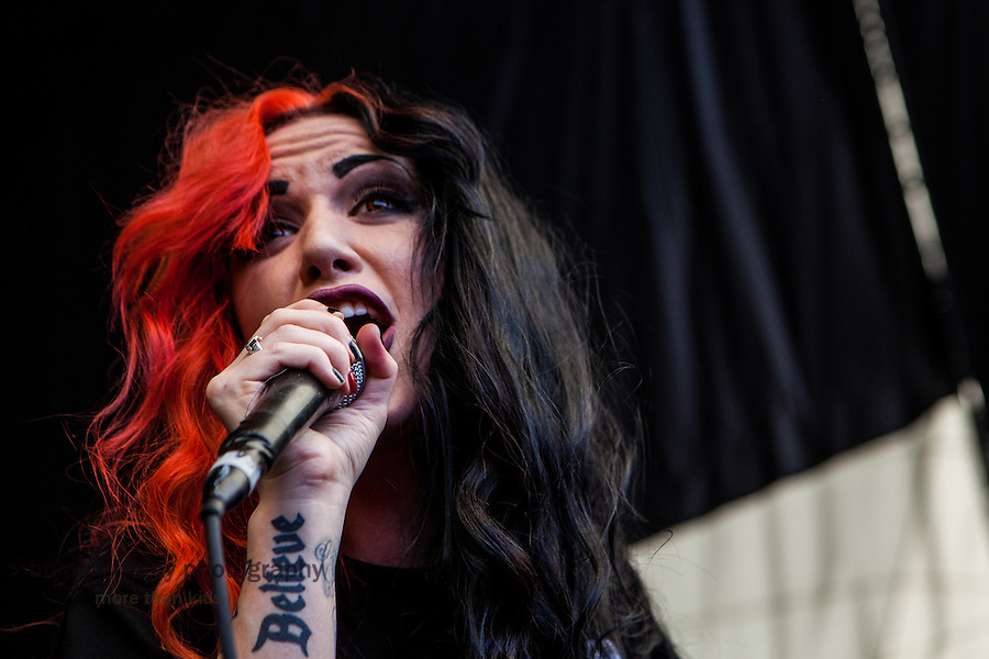 New Years Day performed during the 2013 Vans Warped Tour at Shoreline Amphitheater in the San Francisco Bay Area on Saturday, June 22, 2013. Ashley Costello is the lead singer for the Southern California band.