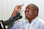 GA-RANKUWA, GAUTENG - 6 October 2010 - African National Congress Youth League president Julius Malema addresses students at the University of Limpopo's Medunsa campus where he again called for the nationalisation of mines..Picture: Gordano Stolley/Allied Picture Press