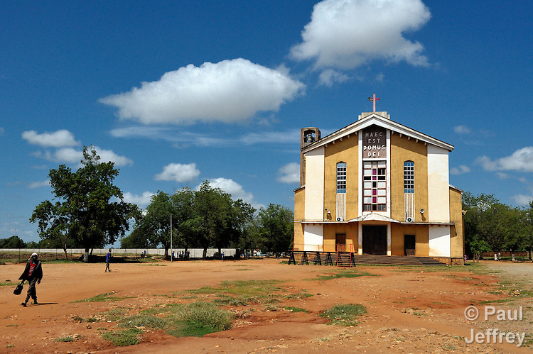 The Cathedral of St. Therese of the Roman Catholic Archdiocese of Juba, South Sudan. This church is where the president of the country, Salva Kiir, normally celebrates Mass.