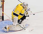Sam Marotta (Merrimack - 30) - The University of Notre Dame Fighting Irish defeated the Merrimack College Warriors 4-3 in overtime in their NCAA Northeast Regional Semi-Final on Saturday, March 26, 2011, at Verizon Wireless Arena in Manchester, New Hampshire.