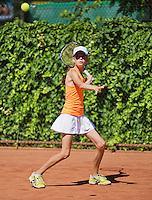 05-08-13, Netherlands, Dordrecht,  TV Desh, Tennis, NJK, National Junior Tennis Championships, Naomi van Bose  Natasja Dragic<br /> <br /> <br /> Photo: Henk Koster