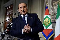 Roma, 12 Aprile 2018<br /> Silvio Berlusconi<br /> Secondo giro di Consultazioni per la formazione del Governo