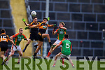 Wayne Guthrie Austin Stacks in action against Donnchadh Walsh Mid Kerry in the Kerry Senior County Football Final at Fitzgerald Stadium on Sunday.