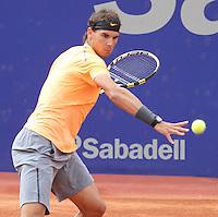 28.04.2012 Barcelona, Spain. ATP Barcelona Open Banc Sabadell, Semifinal. Match between Rafael Nadal v Fernando Verdasco. Picture show Rafa Nadal