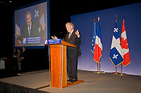 Montreal, July 4, 2008,  Quebec Premier Jean Charest speak before Visit of French Premier François Fillon, French Chamber of Commerce Conference in Canada luncheon <br /> PHOTO :  Agence Quebec presse