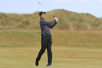 Ashley Chesters (ENG) on the 2nd fairway during Round 1 of the Dubai Duty Free Irish Open at Ballyliffin Golf Club, Donegal on Thursday 5th July 2018.<br /> Picture:  Thos Caffrey / Golffile