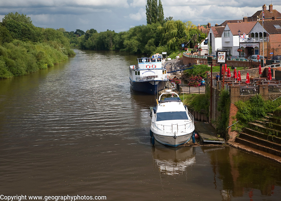 Boats on the River Severn, Upton upon Severn, Worcestershire, England