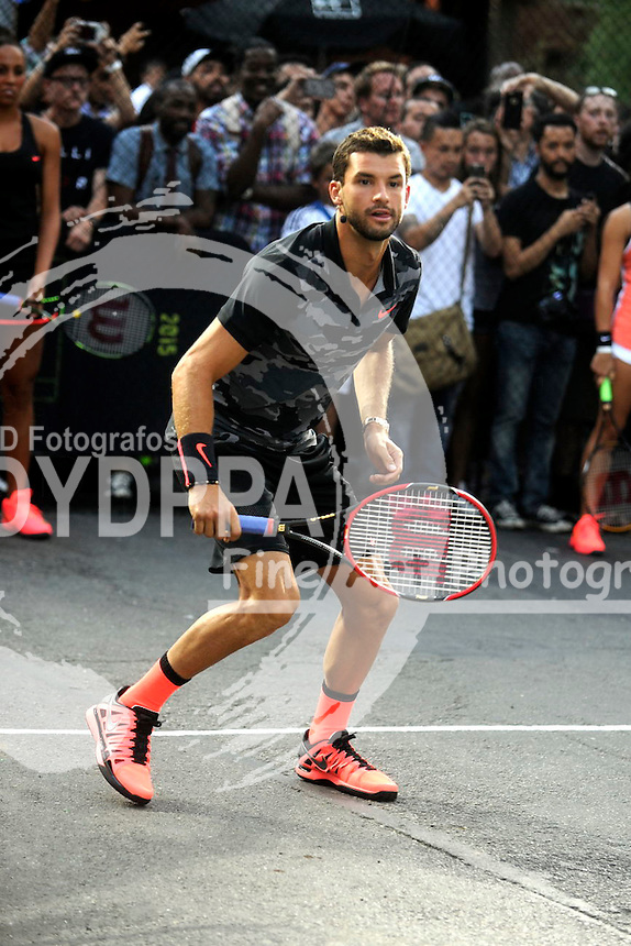 Grigor Dimitrov attending Nike's 'NYC Street Tennis' event on August 24, 2015 in New York City