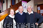 Mary O'Sullivan Killarney, Kieran Fleming and Jerome Stack at the Kerry Drama Festival in the Ivyleaf theatre Castleisland on Friday night