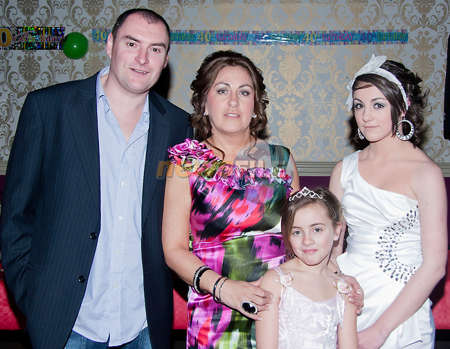 Darren, Rhoslynn, Shelbee and Heyleigh Malone in the Star and Crescent for Rhosylnn's 40th birthday..Picture: Shane Maguire / www.newsfile.ie.