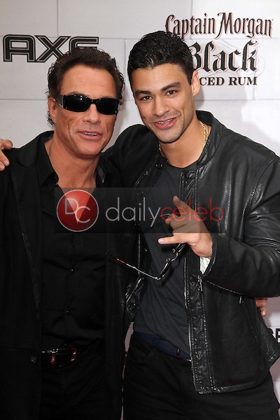 Jean-Claude Van Damme, son Kristopher Van Varenberg<br /> at Spike TV's 2012 &quot;Guys Choice&quot; Awards, Sony Studios, Culver City, CA 06-02-12<br /> David Edwards/DailyCeleb.com 818-249-4998