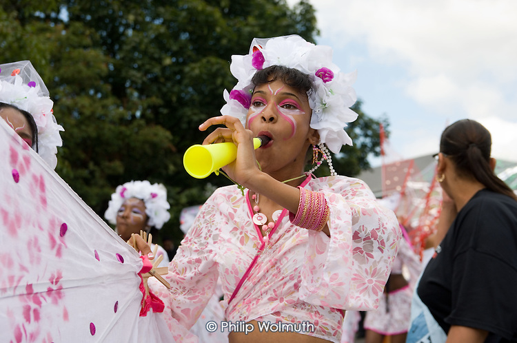 Paddington Arts/Elimu mas band parade on children's day at Notting Hill Carnival