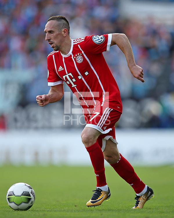 12.08.2017, Football DFB Pokal 2017/2018, 1. round, Chemnitzer FC - FC Bayern Muenchen, stadium an Gellertstrasse. Franck Ribery (Bayern Muenchen)  *** Local Caption *** &copy; pixathlon<br /> <br /> +++ NED + SUI out !!! +++<br /> Contact: +49-40-22 63 02 60 , info@pixathlon.de