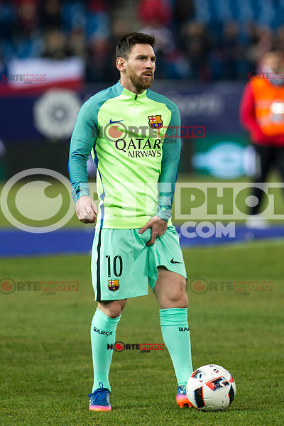 FC Barcelona's forward Leo Messi during the match of Copa del Rey between Atletico de  Madrid and Futbol Club Barcelona at Vicente Calderon Stadium in Madrid, Spain. February 1st 2017. (ALTERPHOTOS/Rodrigo Jimenez) /NORTEPHOTO.COM