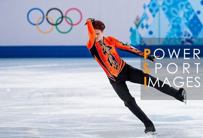 Misha Ge of Uzbekistan competes during Figure Skating Men's Short Program of the 2014 Sochi Olympic Winter Games at Iceberg Skating Palace on February 12, 2014 in Sochi, Russia. Photo by Victor Fraile / Power Sport Images