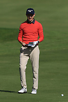 Daan Huizing (NED) on the 7th fairway during Round 2 of the Challenge Tour Grand Final 2019 at Club de Golf Alcanada, Port d'Alcúdia, Mallorca, Spain on Friday 8th November 2019.<br /> Picture:  Thos Caffrey / Golffile<br /> <br /> All photo usage must carry mandatory copyright credit (© Golffile | Thos Caffrey)
