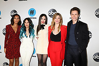 LOS ANGELES - FEB 5:  Sydney Park, Janel Parrish, Sofia Carson, Sasha Pieterse, Graeme King at the Disney ABC Television Winter Press Tour Photo Call at the Langham Huntington Hotel on February 5, 2019 in Pasadena, CA.<br /> CAP/MPI/DE<br /> ©DE//MPI/Capital Pictures